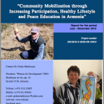 Community mobilisation through healthy lifestyle and peace education- 2012